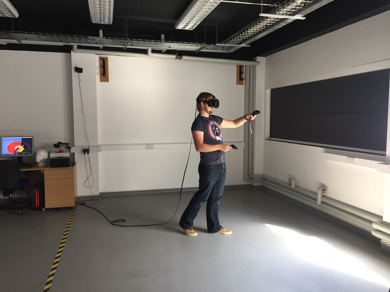 Using the HTC VIVE HMD